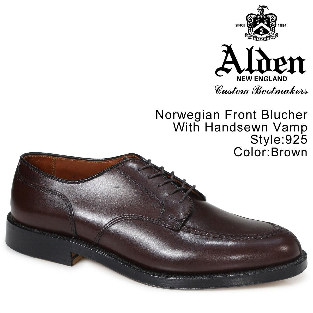 オールデン ALDEN シューズ NORWEGIAN FRONT BLUCHER WITH HANDSEWN VAMP Dワイズ 925 メンズ