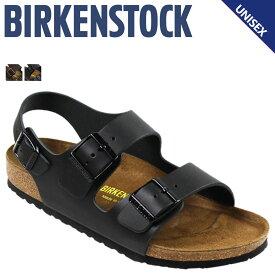 BIRKENSTOCK ビルケンシュトック ミラノ サンダル メンズ MILANO ビルケン レザー 普通幅 細幅 ブラック ダークブラウン 黒