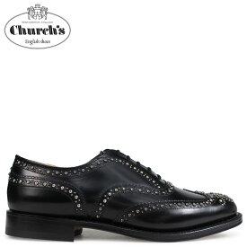 Churchs チャーチ 靴 バーウッド 2S ウイングチップ シューズ メンズ BURWOOD 2S POLISHED BINDER EEB012 スタッズ ブラック 黒