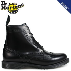 Dr.Martens 6ホール ブーツ レディース メンズ ドクターマーチン DELPHINE BROGUE BOOT ブラック 黒 R22650001 [9/13 追加入荷]