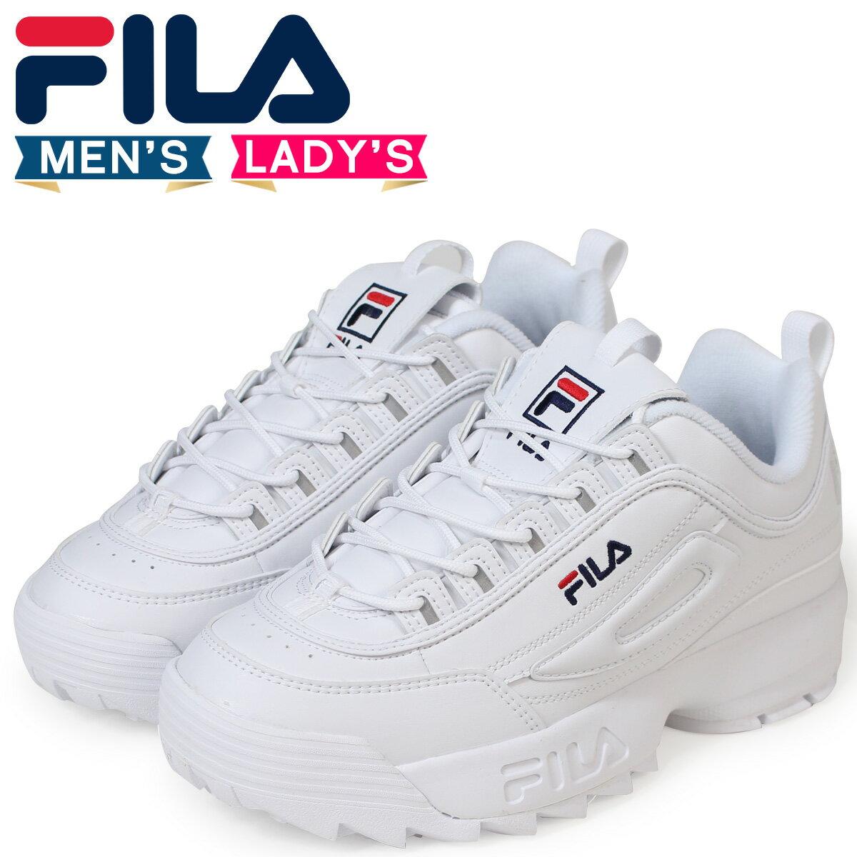 フィラ FILA ディスラプター2 スニーカー メンズ レディース DISRUPTOR 2 ホワイト FS1HTA1071X [予約商品 9/25頃入荷予定 追加入荷]