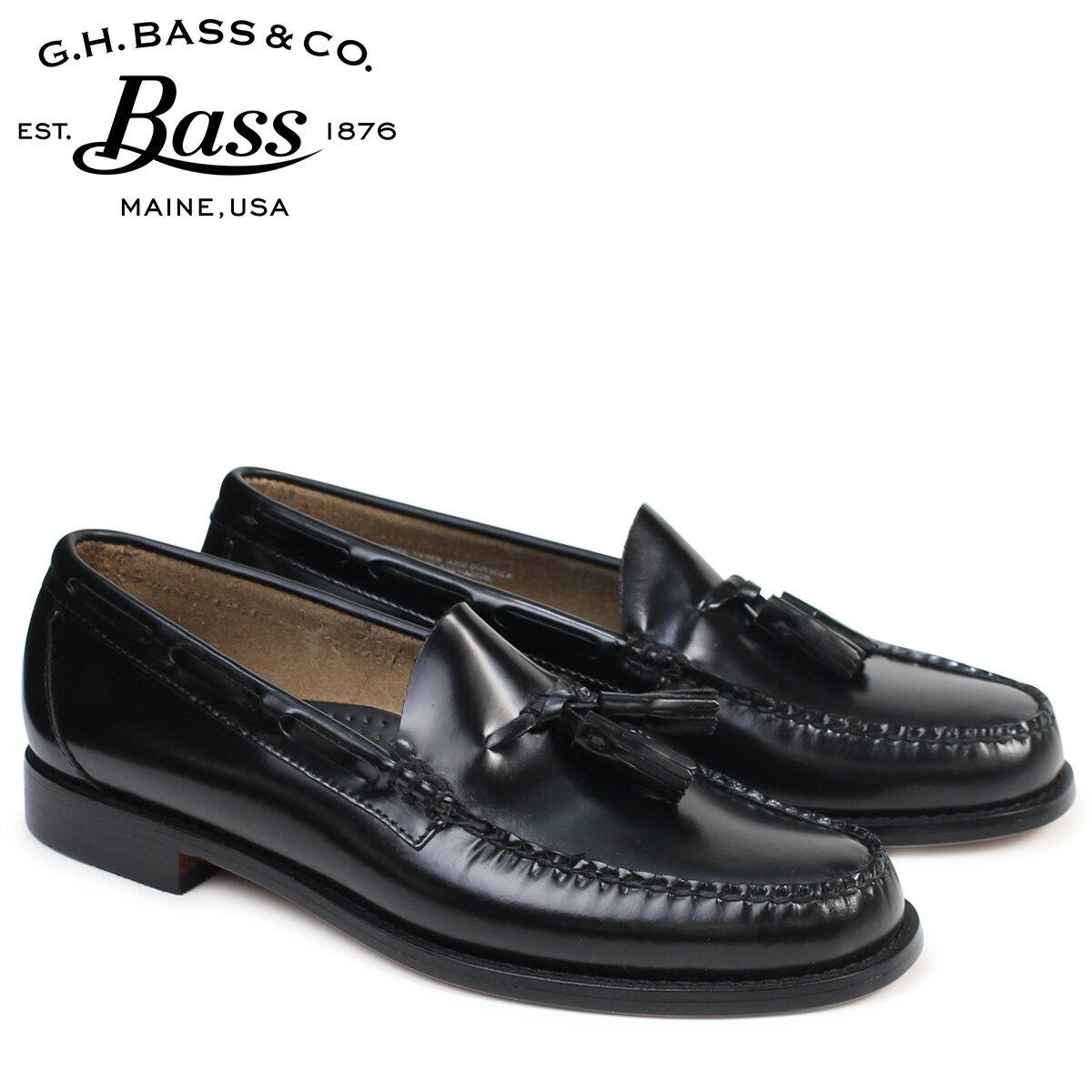 ジーエイチバス ローファー G.H. BASS メンズ ペニー タッセル LEXINGTON TASSEL WEEJUNS 70-10904 靴 ブラック