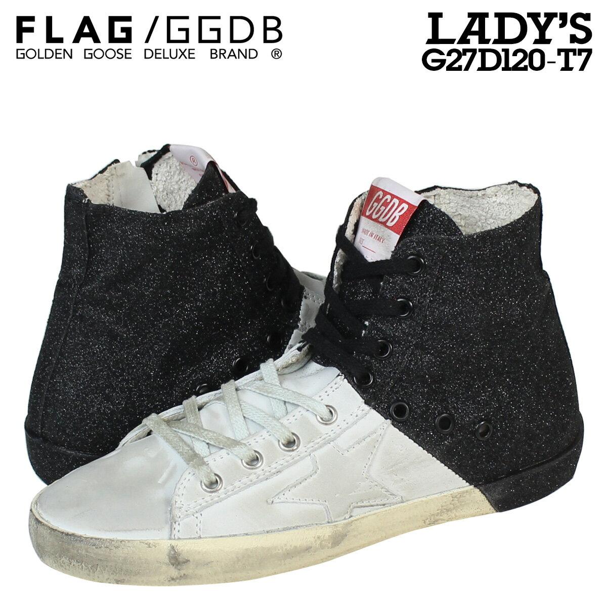Golden Goose ゴールデングース スニーカー レディース FRANCY イタリア製 G27D120 T7 靴 ホワイト ブラック 【CLEARANCE】