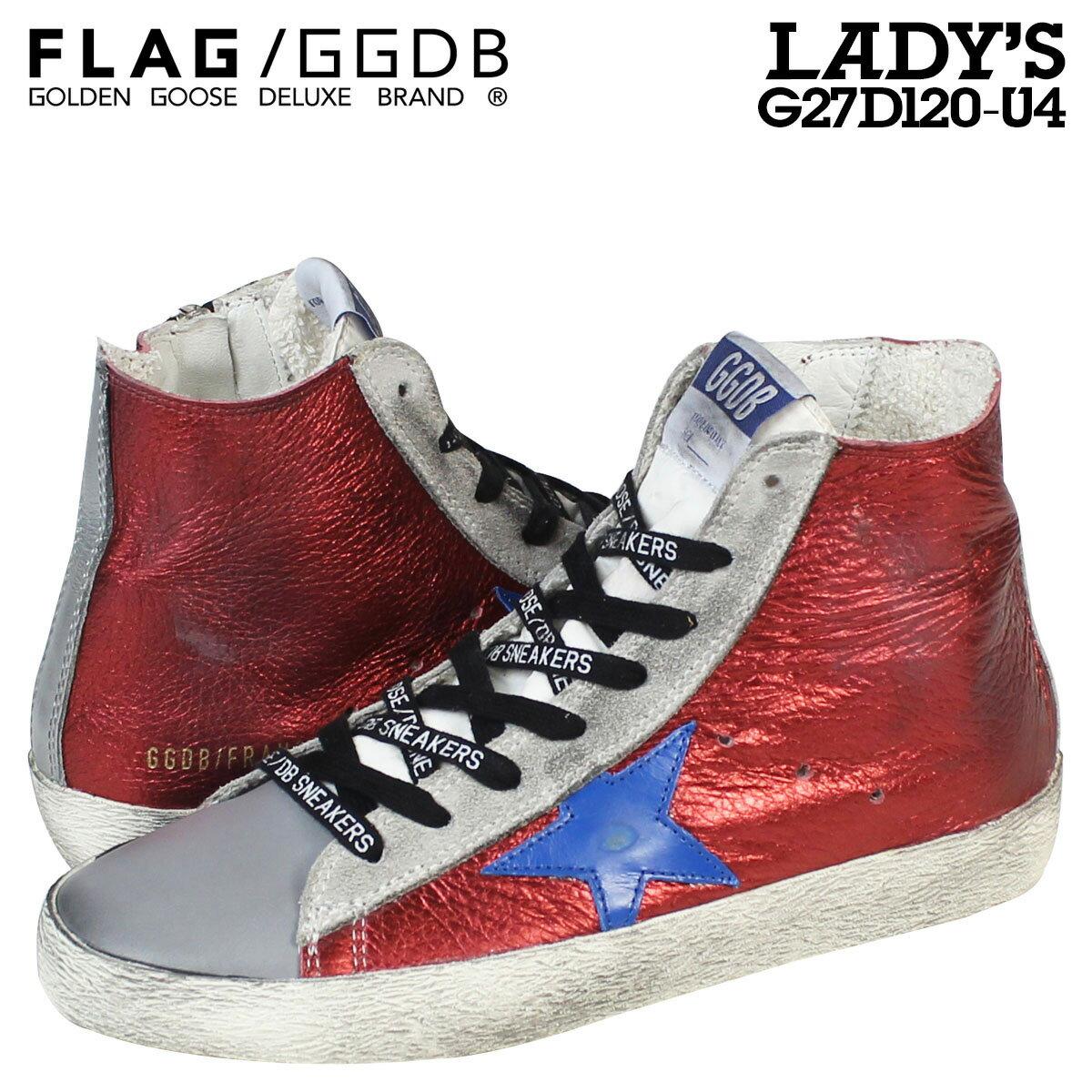 Golden Goose ゴールデングース スニーカー レディース FRANCY イタリア製 G27D120 U4 靴 レッド グレー 【CLEARANCE】