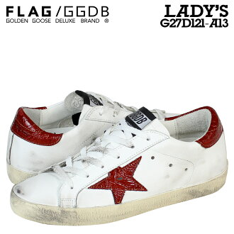 [SOLD OUT]黄金的鵝Golden Goose運動鞋女士SUPER STAR意大利製造G27D121 A13鞋白