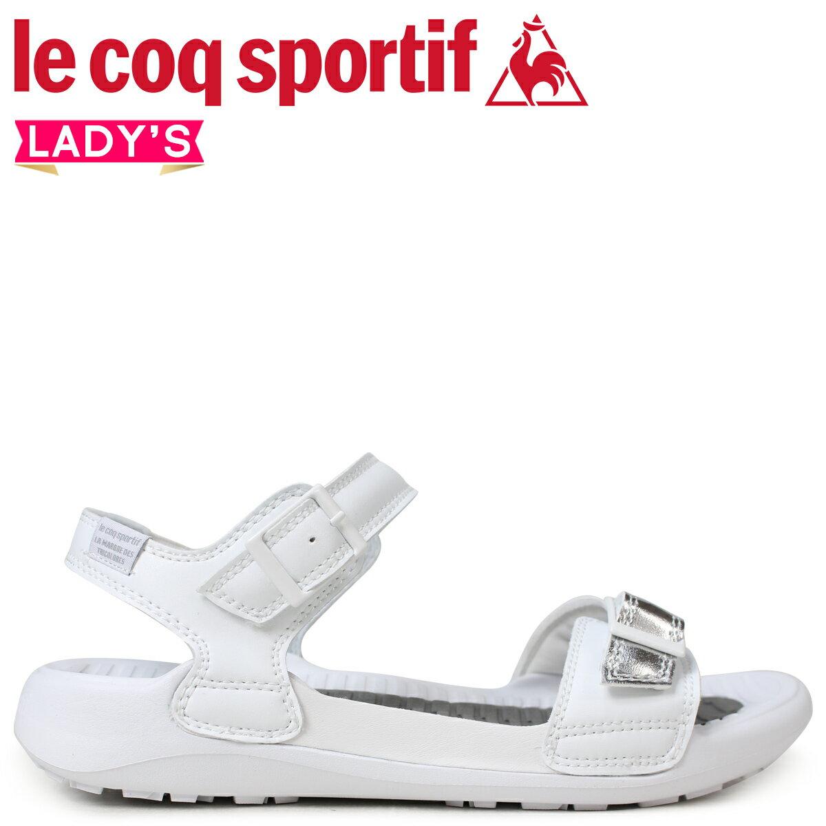 le coq sportif ルコック スポルティフ レディース サンダル LA ジュアン アクティブ 2 JUAN ACTIVE 2 ホワイト 白 QL3LJE30WH