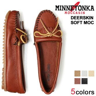 «Reservation products» «around the 10 / 11 stock» Minnetonka MINNETONKA deerskin soft moccasin DEERSKIN SOFT MOC leather women's