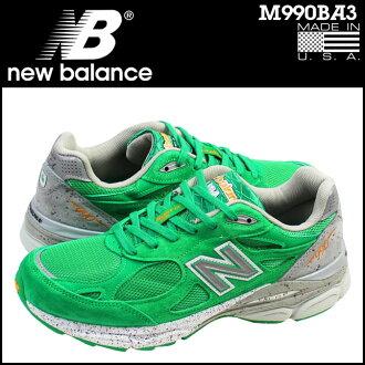 [最大2,016日圆OFF]新平衡new balance運動鞋M990BA3 MADE IN USA D WISEMEN鞋綠色