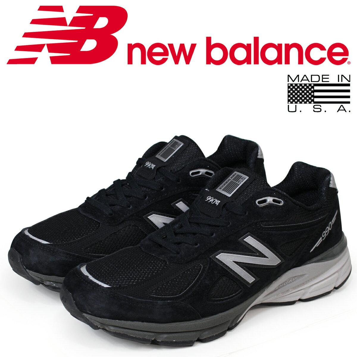 new balance 990 メンズ ニューバランス スニーカー M990BK4 Dワイズ MADE IN USA 靴 ブラック [予約商品 7/19頃入荷予定 追加入荷]