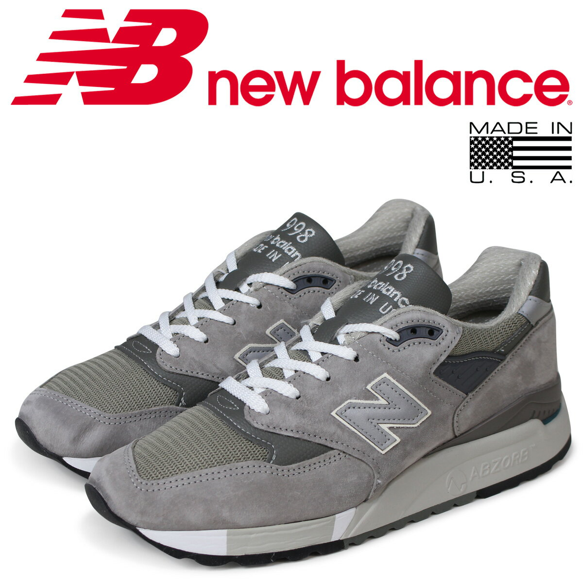 new balance ニューバランス スニーカー M998 GY MADE IN USA Dワイズ メンズ 靴 グレー [予約商品 7/19頃入荷予定 追加入荷]