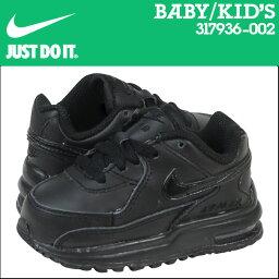 [9000雙耐吉NIKE空氣最大運動鞋嬰兒小孩AIR MAX TD空氣最大317936-002鞋黑色的]