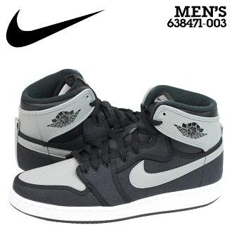 [最大2016日元OFF]耐克NIKE空气乔丹运动鞋AIR JORDAN 1 RETRO KO HI OG空气乔丹1重新流行高638471-003人鞋黑色灰色