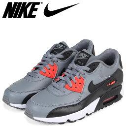 NIKE耐吉空氣最大90女子的運動鞋AIR MAX 90 LEATHER GS 833412-010灰色[預訂商品2/14左右打算進貨新入貨物]