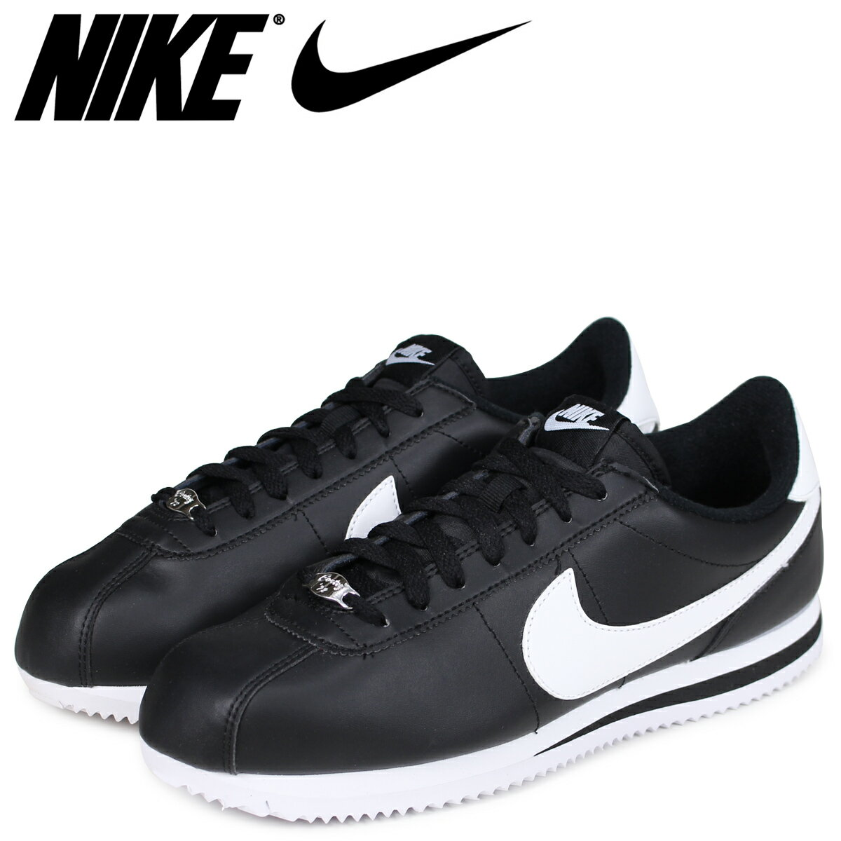 NIKE ナイキ コルテッツ スニーカー CORTEZ BASIC LEATHER 819719-012 メンズ 靴 ブラック [予約商品 7/19頃入荷予定 追加入荷]
