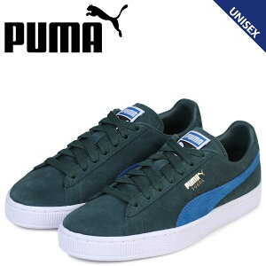 PUMAプーマスエードクラシックスニーカーSUEDECLASSIC+363242-30メンズレディース靴グリーン[予約商品12/14頃入荷予定新入荷]