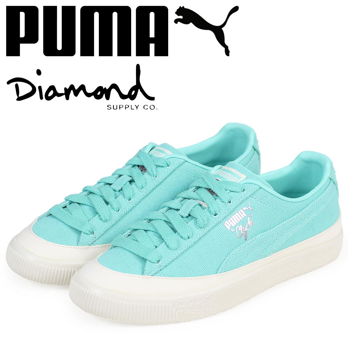 PUMA プーマ クライド スニーカー メンズ ダイヤモンドサプライ CLYDE DIAMOND コラボ 365651-01 ブルー