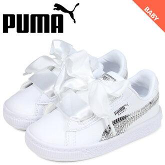 68b08046c3 Sugar Online Shop: PUMA Puma basket heart sneakers baby kids BASKET HEART  BLING INF white white 36684902 [6/21 Shinnyu load] | Rakuten Global Market