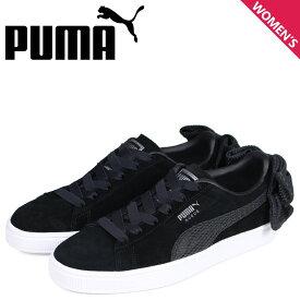 PUMA プーマ スエード ボウ スニーカー レディース WMNS SUEDE BOW UPRISING ブラック 黒 36745501