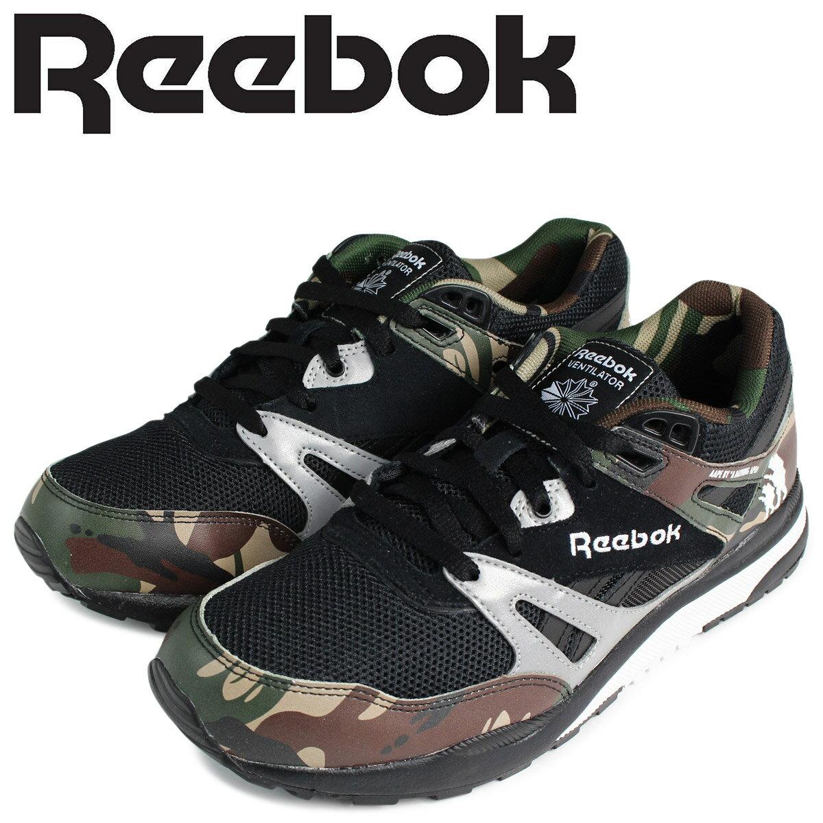 Reebok AAPE BY A BATHING APE ベンチレーター スニーカー リーボック エーエイプバイアベイシングエイプ VENTILATOR AFFILIATES CAMO V63541 メンズ 靴 ブラック カモ 迷彩 コラボ