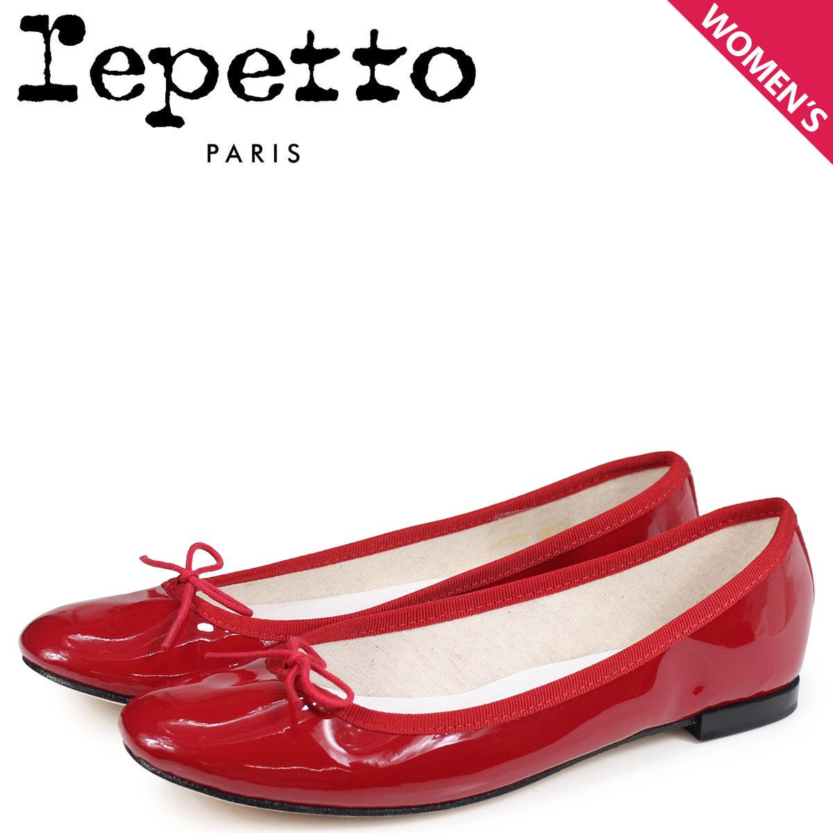 Repetto レペット バレエシューズ サンドリオン パンプス レディース CENDRILLON BALLERINA レッド 赤 V086-550