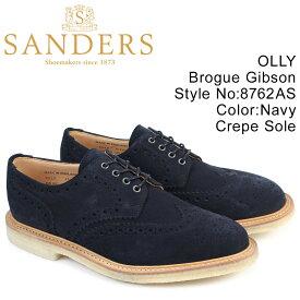 【最大600円OFFクーポン】SANDERS 靴 サンダース ミリタリー オックスフォード シューズ ウイングチップ OLLY 8762AS メンズ ネイビー