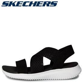 SKECHERS スケッチャーズ ウルトラフレックス サンダル スポーツサンダル レディース ULTRA FLEX-NEON STAR ブラック 黒 32495