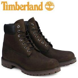 Timberland ブーツ メンズ 6インチ ティンバーランド 6INCH PREMIUM WATERPROOF BOOTS プレミアム ウォータープルーフ ヌバック 防水 10001 ダークチョコレート [9/13 追加入荷]