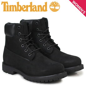 Timberland ブーツ レディース 6インチ ティンバーランド WOMENS 6INCH PREMIUM WATERPROOF BOOTS 8658A Wワイズ プレミアム 防水 ブラック 黒