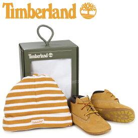 Timberland ティンバーランド ブーツ シューズ キャップ 帽子 ニット帽 セット キッズ ベビー INFANT CRIB BOOTIES CAP SET ギフト ウィート ベージュ 9589R