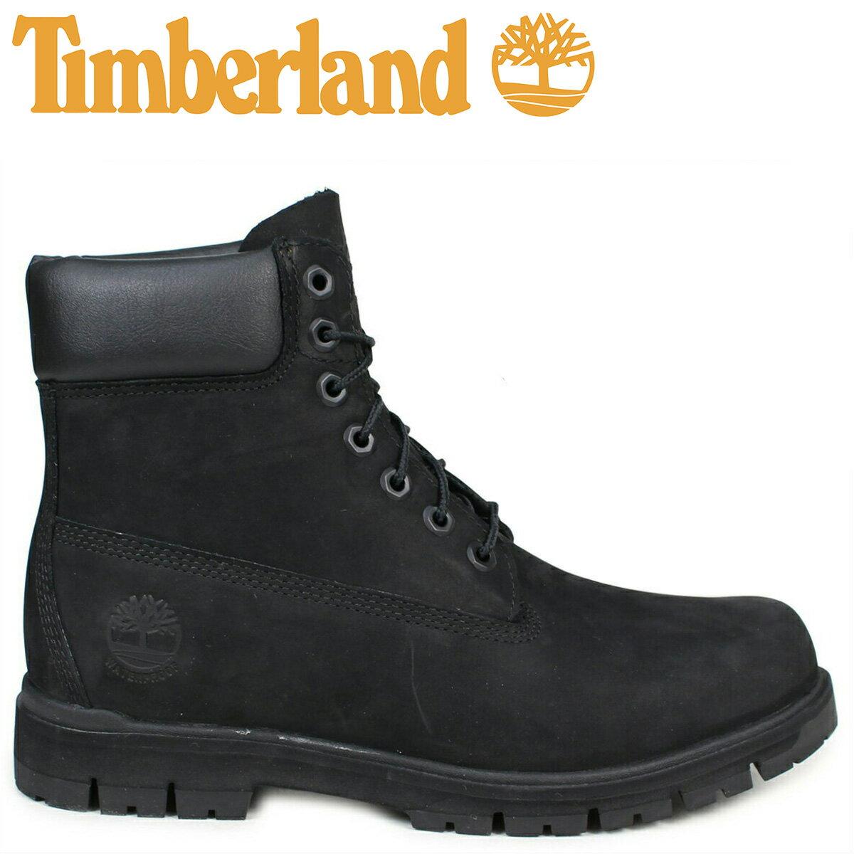 Timberland ブーツ メンズ 6インチ ティンバーランド RADFORD 6INCH PREMIUM BOOT A1JI2 ウォータープルーフ Wワイズ 防水 ブラック [予約商品 7/25頃入荷予定 追加入荷]