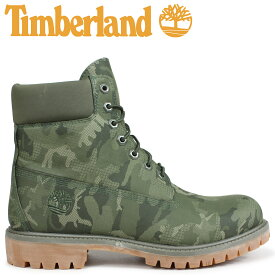 Timberland ブーツ メンズ 6インチ ティンバーランド 6-INCH PREMIUM FABRIC BOOTS A1U9I Wワイズ ダークグリーン