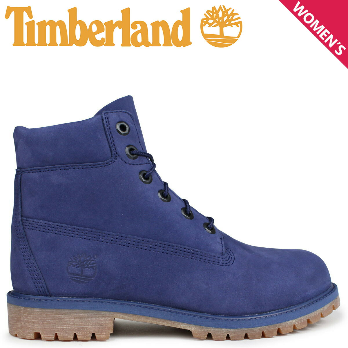 Timberland レディース ブーツ 6インチ ティンバーランド キッズ JUNIOR 6INCHI PREMIUM WATERPROOF BOOT A1VCV Wワイズ 防水 ブルー