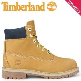 Timberland ブーツ レディース 6インチ ティンバーランド キッズ JUNIOR 6-INCH PREMIUM WATERPROOF BOOTS A1VE5 Wワイズ ウィート