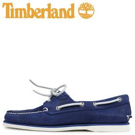 Timberland ティンバーランド クラシック ツーアイ デッキシューズ メンズ CLASSIC 2 EYE Wワイズ ダーク ブルー A1ZTZ