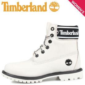 Timberland ティンバーランド ブーツ レディース 6インチ WOMENS 6INCH LOGO COLLAR WATERPROOF BOOTS ホワイト 白 A24JJ [8/22 新入荷]