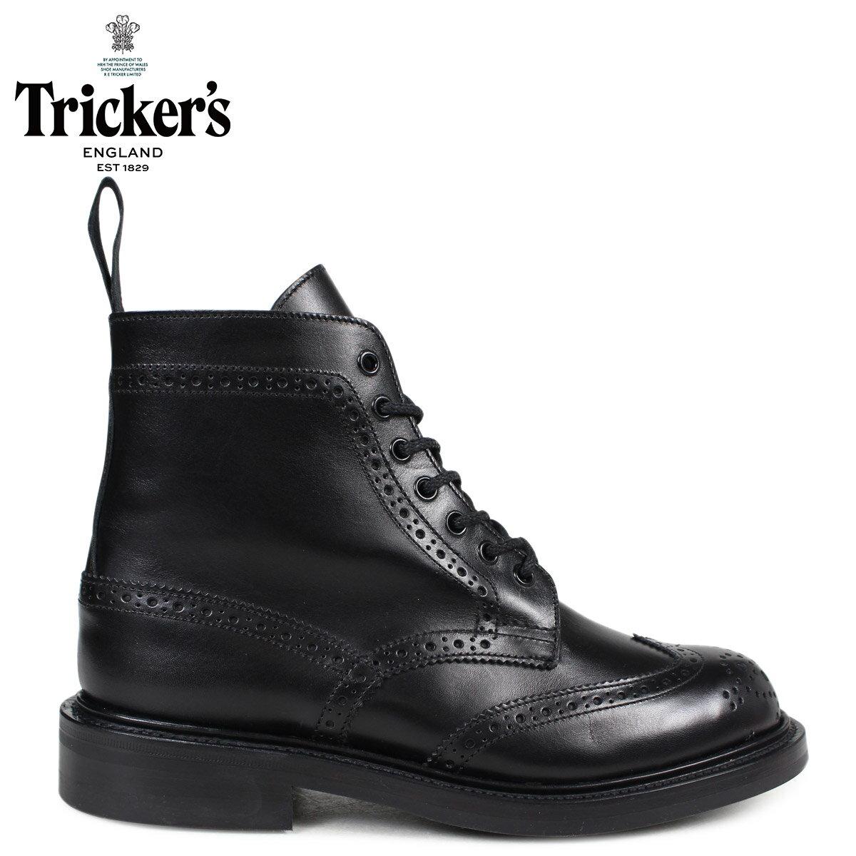 Tricker's トリッカーズ レディース カントリーブーツ MALTON L5676 4ワイズ ブラック [予約商品 2/24頃入荷予定 新入荷]