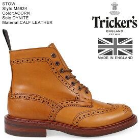 Trickers トリッカーズ カントリーブーツ STOW M5634 5ワイズ メンズ ライトブラウン