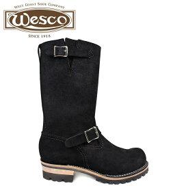 WESCO ボス ウエスコ ブーツ 11インチ エンジニア 11INCH BOSS Eワイズ スエード メンズ ブラック 黒 BK7700100 ウェスコ [9/30 追加入荷]