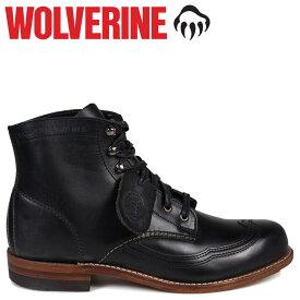 WOLVERINE ウルヴァリン 1000マイル ブーツ ADDISON 1000MILE WINGTIP BOOT Dワイズ W05344 ブラック 黒 ウィングチップ ワークブーツ メンズ