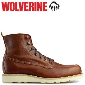 【最大600円OFFクーポン】 WOLVERINE ブーツ ウルヴァリン メンズ LOUIS WEDGE BOOT Dワイズ W40411 ブラウン ワークブーツ