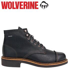 【最大600円OFFクーポン】 WOLVERINE ブーツ ウルヴァリン メンズ JENSON WATERPROOF BOOT Dワイズ W40418 ブラック 黒 ワークブーツ