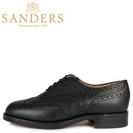 サンダース SANDERS シューズ ウィングチップ ハイランド ブローグ メンズ ビジネス BRAEMAR HIGHLAND BROGUE SHOE Fワイズ ブラック 黒 5597B