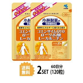 【在庫処分】【2パック】【送料無料】 小林製薬 コエンザイムQ10 α-リポ酸 L-カルニチン 約30日分×2セット (120粒) 美容サプリメント