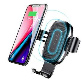 【送料無料】 Baseus ベースアス Qi 車載用 ワイヤレス充電器 WXYL-01自動ロック 高速充電 置くだけ充電 スタンド ワイヤレス ワイアレス充電 Charger iphone 8 iPhone X iPhone XS iPhone XR iPhone 8Plus Galaxy Xperia samsung Huawei