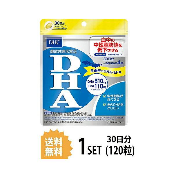 【送料無料】 DHC  DHA 30日分 (120粒) ディーエイチシー 【機能性表示食品】