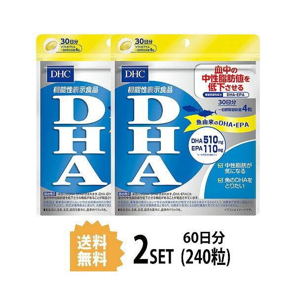 【送料無料】【2パック】 DHC  DHA 30日分×2パック (240粒) ディーエイチシー 【機能性表示食品】