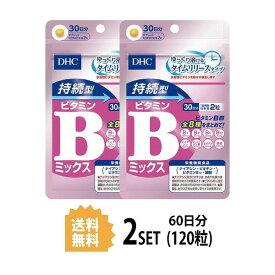 【送料無料】【2パック】 DHC 持続型ビタミンBミックス 30日分×2パック (120粒) ディーエイチシー 【栄養機能食品(ナイアシン・ビオチン・ビタミンB12・葉酸)】