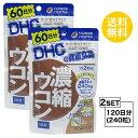 【2個セット】【送料無料】 DHC 濃縮ウコン 60日分×2パック (240粒) ディーエイチシー サプリメント クルクミン 秋…