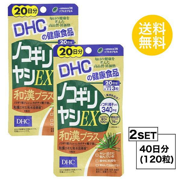 【お試しサプリ】【2個セット】【送料無料】 DHC ノコギリヤシEX 和漢プラス 20日分×2パック (120粒) ディーエイチシー