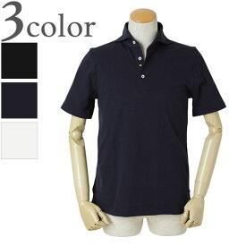 giannetto ジャンネット メンズ ポロシャツ ホリゾンタルカラー コットン ストレッチ 1103-VENICE ブラック/ネイビー/ホワイト